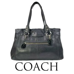 Coach Penelope Black Pebbled Leather Shoulder Bag